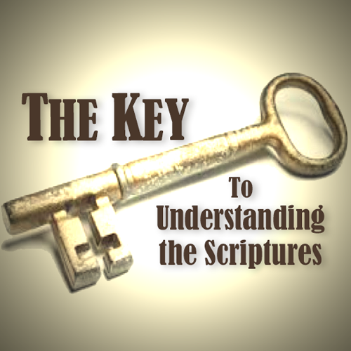 Golden key, title: The Key to Understanding the Scriptures